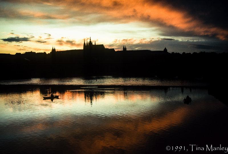 Sunset on the Vtlava River