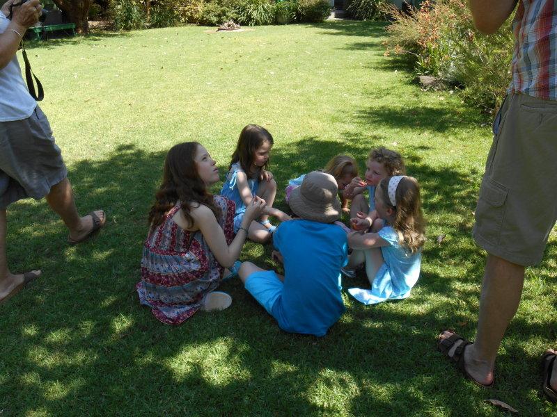 Zacs birthday - burger ring circle with cousins