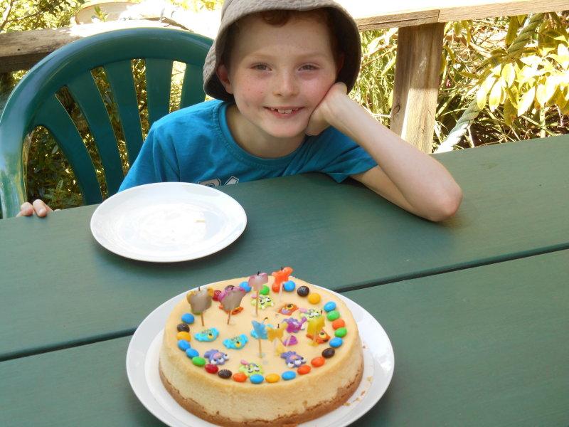 Zacs birthday - cake time 2