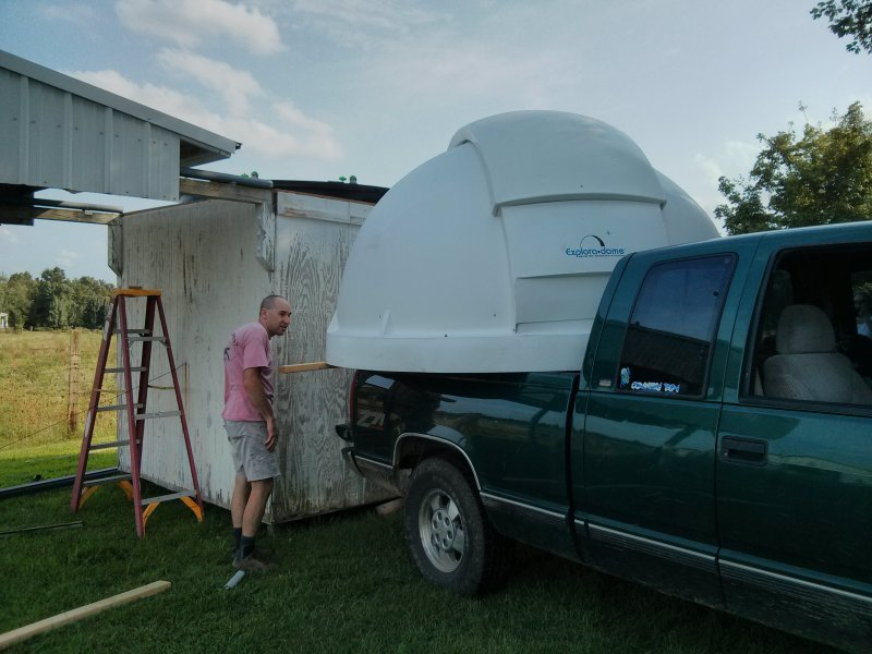 Moving the dome...