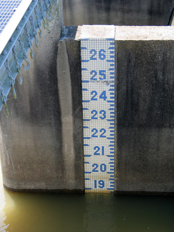 Spillway Gauge on May 2, 2015