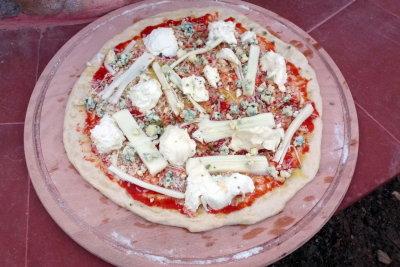 ilk pizza pişime hazır