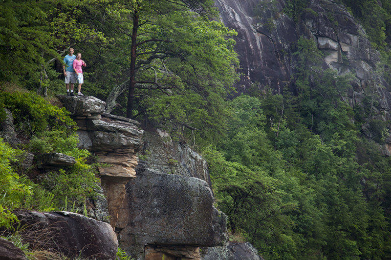 Paul And Heather Above Tallulah Gorge