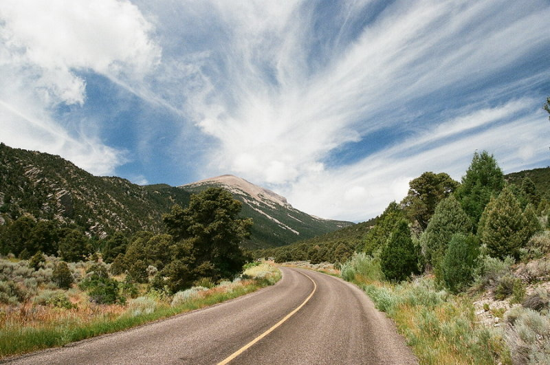 Desert morning cloud formation, Great Basin Natl Park, Nevada 7/11/2015