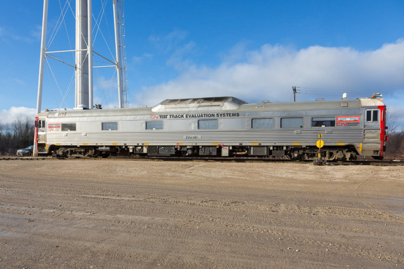 CN 1501 Track Evaluation Unit in Moosonee 2014 November 7th