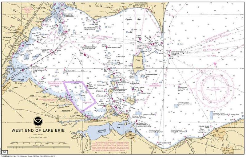 western lake erie map Map Of Western Lake Erie Photo Robert Jones Photos At Pbase Com western lake erie map