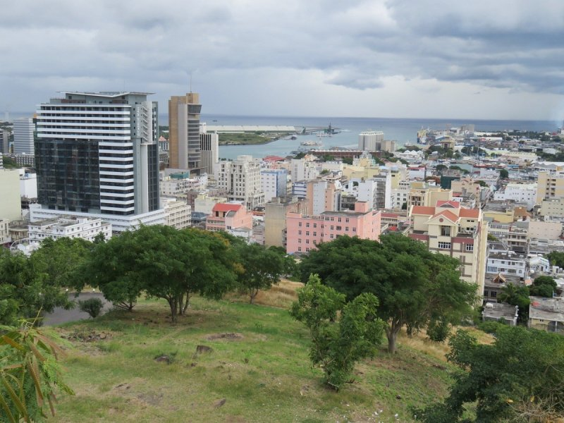 Port Louis view from fort Adelaide