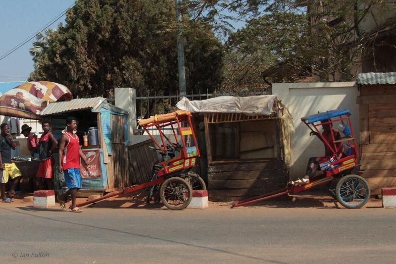 The rickshaw pick-up place
