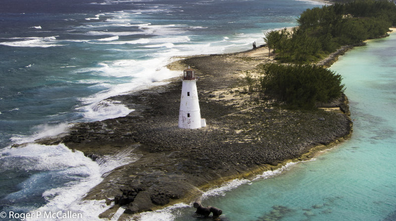 Lighthouse at Nassau Harbour in the Bahamas