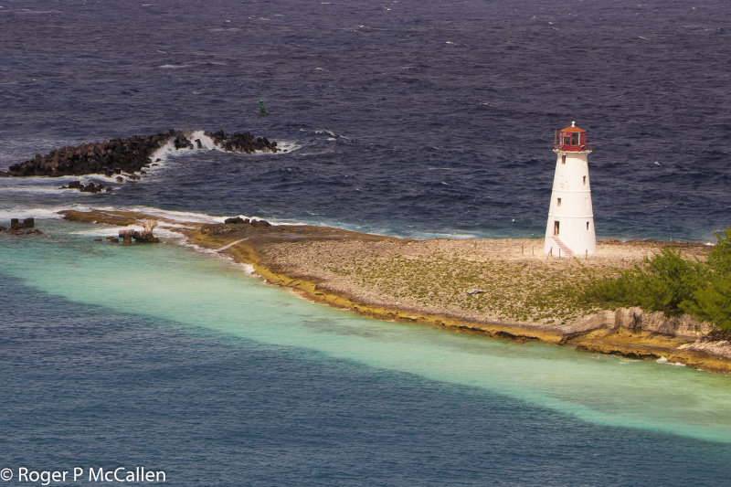 Lighthouse in Nassau Harbour