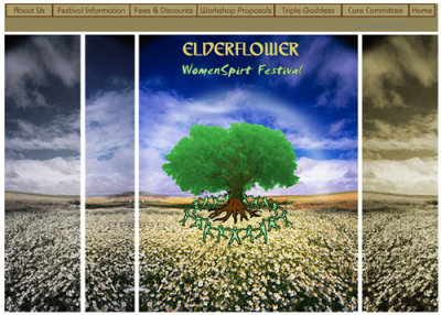 Elderflower.org mockup  (2006)