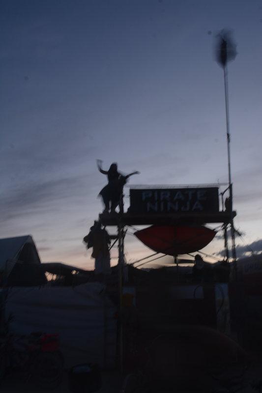 PIRATE NINJA CAMP AT SUNSET