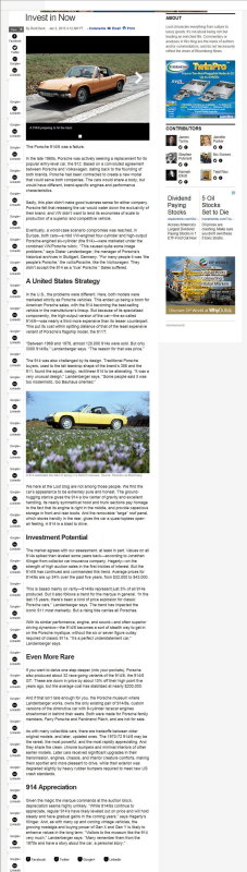914-6 and 914-6 GT Values (01/02/2015)