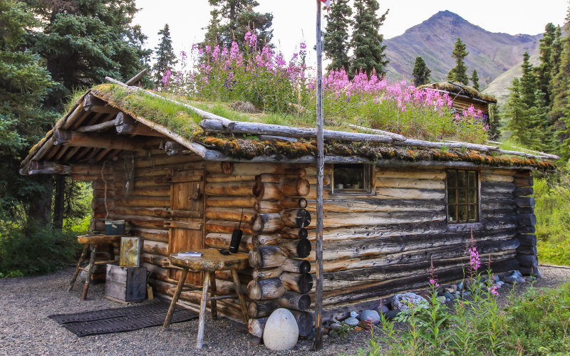Dick Proenneke's cabin at Twin Lakes in Lake Clark National Park