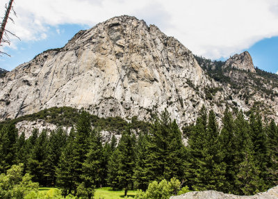 North Dome (8717 feet) from the Zumwalt Meadow Trail in Kings Canyon National Park