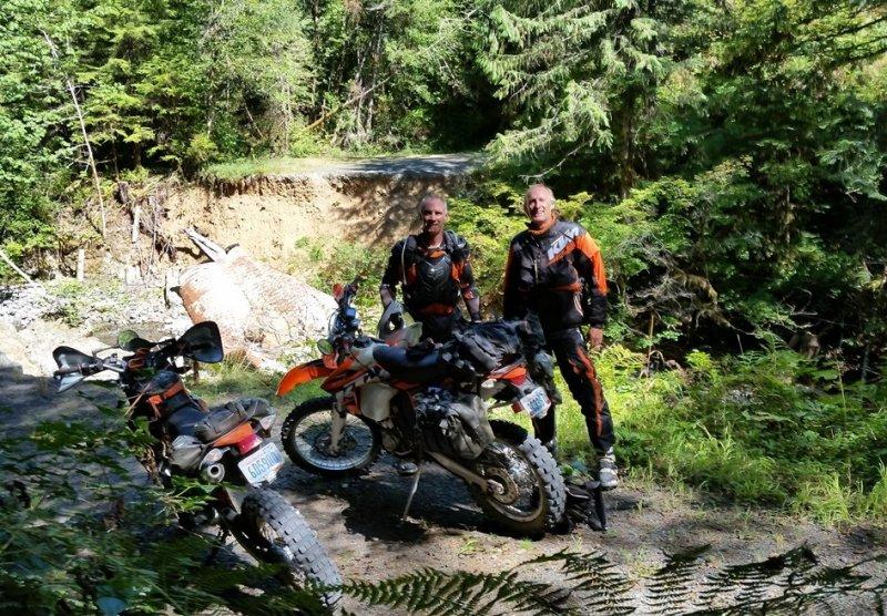 Olympic Peninsula Adventure Ride- Impassable Road Washout
