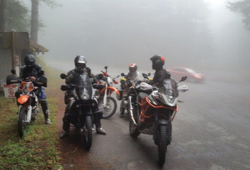 Olympic Peninsula Adventure Ride- Fog at Hurricane Ridge, Day 2, No Views Here