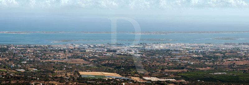 Olhão, a Ria Formosa e o Mar Vistos de São Miguel