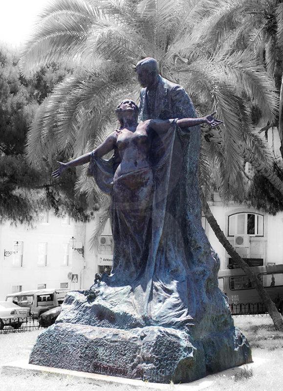 Eça de Queiroz e a Verdade, por Teixeira Lopes - 1903 (réplica)
