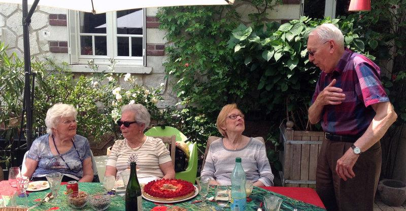 Lise, Angèle, Arlette et Albert
