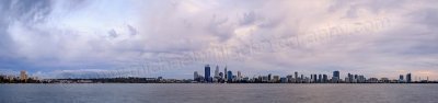Perth and the Swan River at Sunrise, 7th May 2014