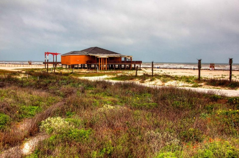 House on Galveston Beach