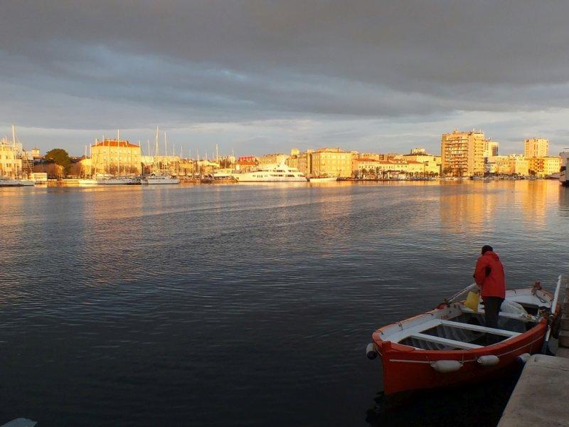 The start of the cruise in Zadar, Croatia