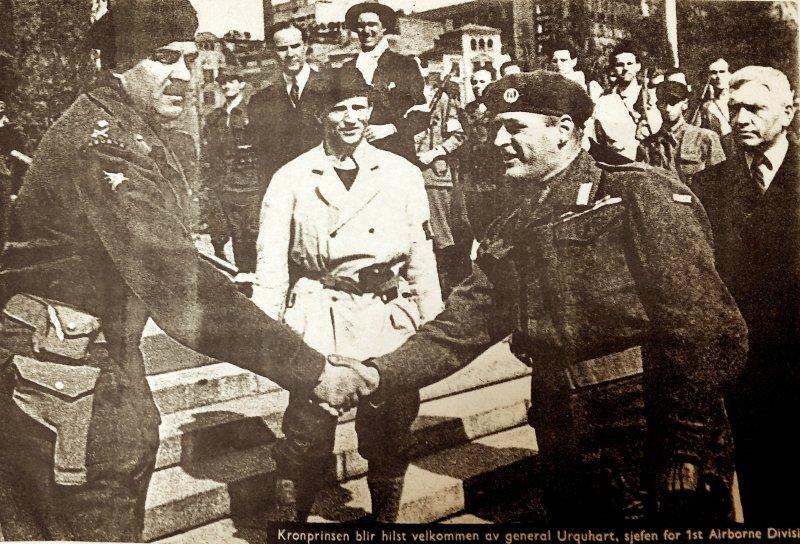 Generalmajor Robert Elliot Urquhart  - 1945 - Oslo - Norway