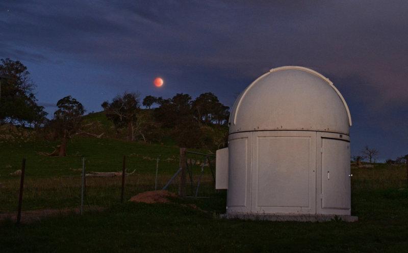 Blood Moon over Wallaroo Observatory