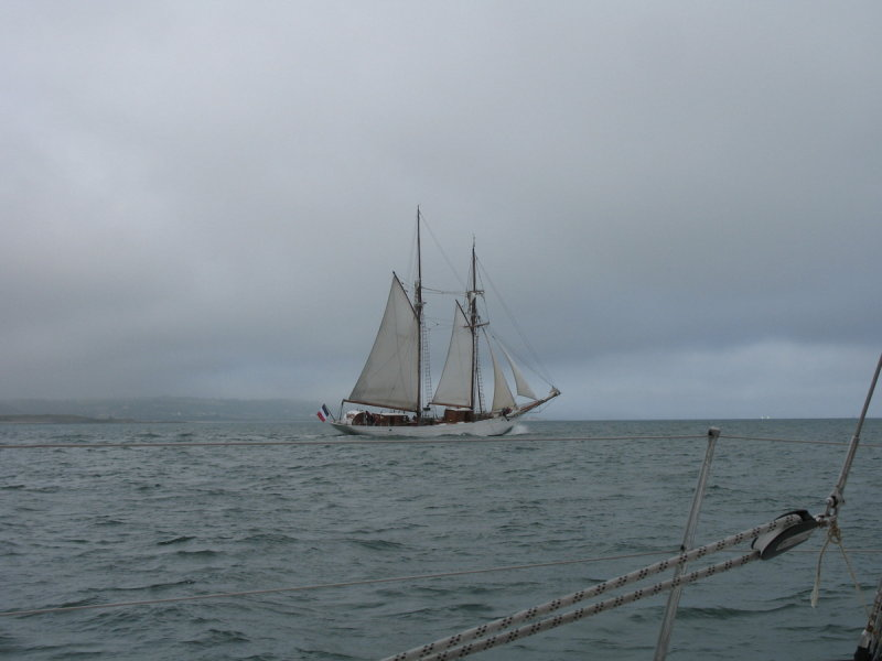 French square rigger off Cherbourg