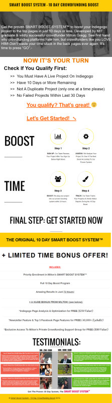 Smart Boost System Infographics