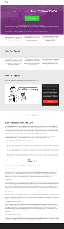 Unsecured Loans 4u Infographics