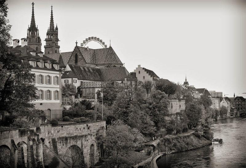 Basel; view to Basler Muenster