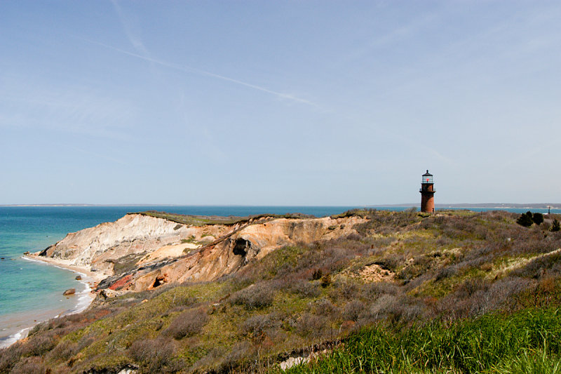 GAY HEAD CLIFFS AND LIGHTHOUSE