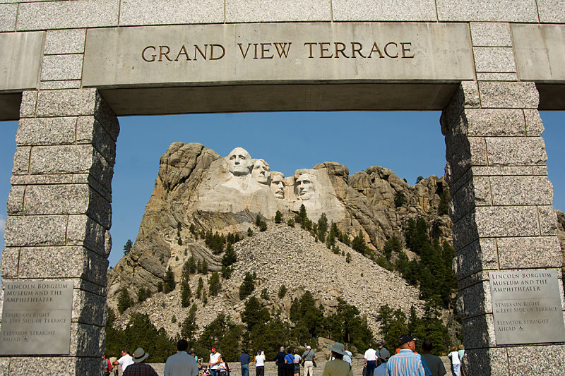 FROM MT. RUSHMORE ENTRANCE