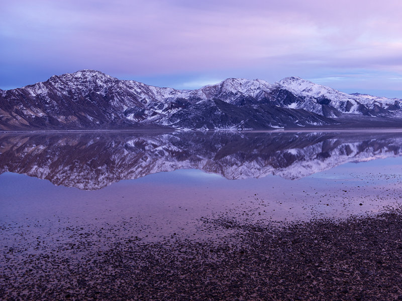 Snow At The Racetrack Playa