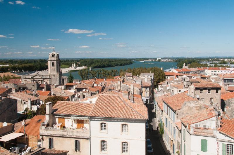 Le Rhône vu de lamphithéâtre