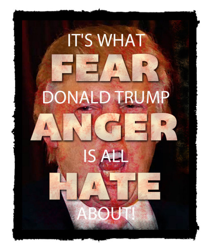 Fear/Anger/Hate What Trump Is All About