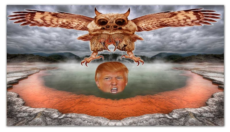 Evil Flying Creature Attacks Trump
