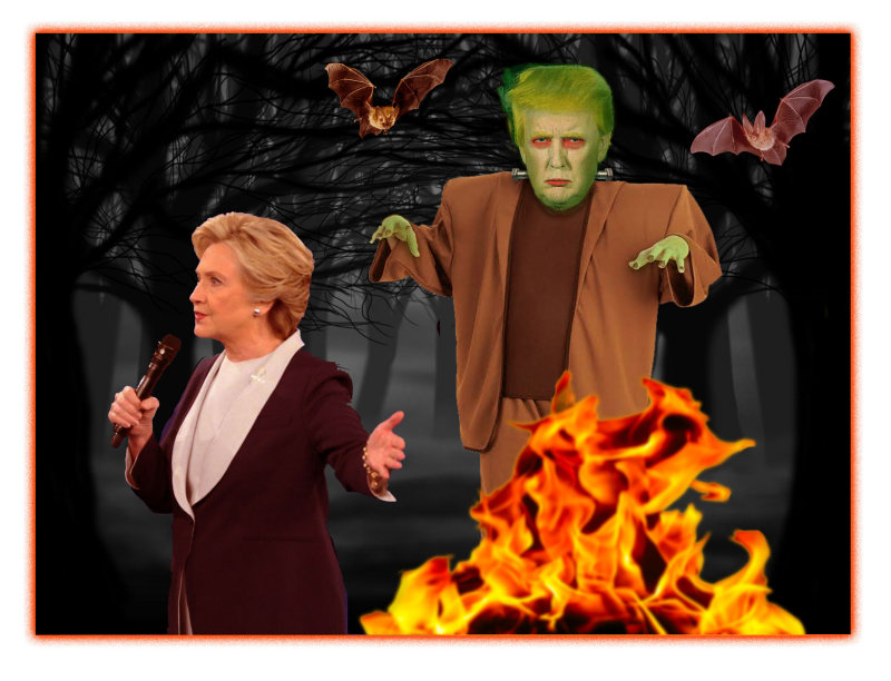 FrankenTrump Stalks Hillary in Second Debate