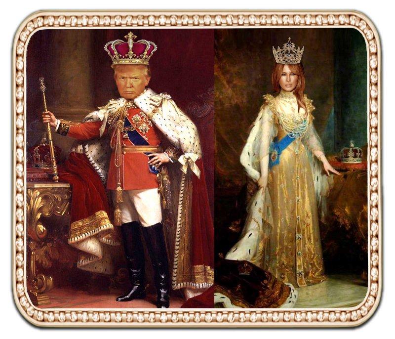 King Donald & Queen Melania