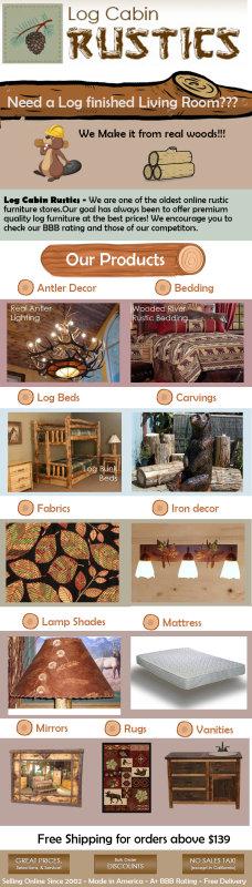 Log Cabin Rustics Infographics