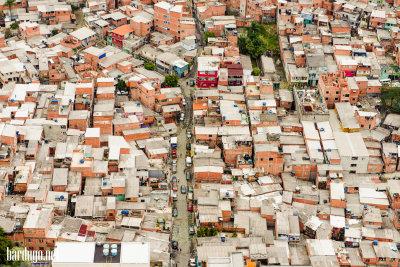 favela sao paulo from air favela