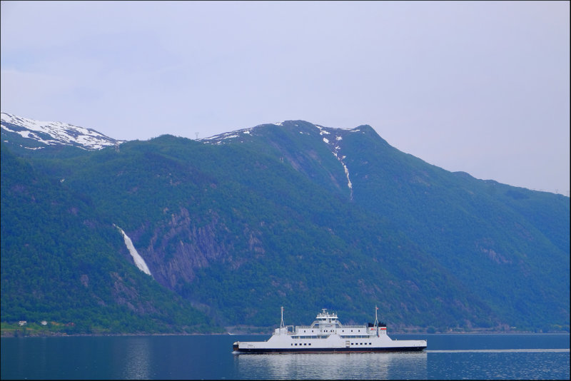 30. Ferry and waterfall,Sognefjord.....