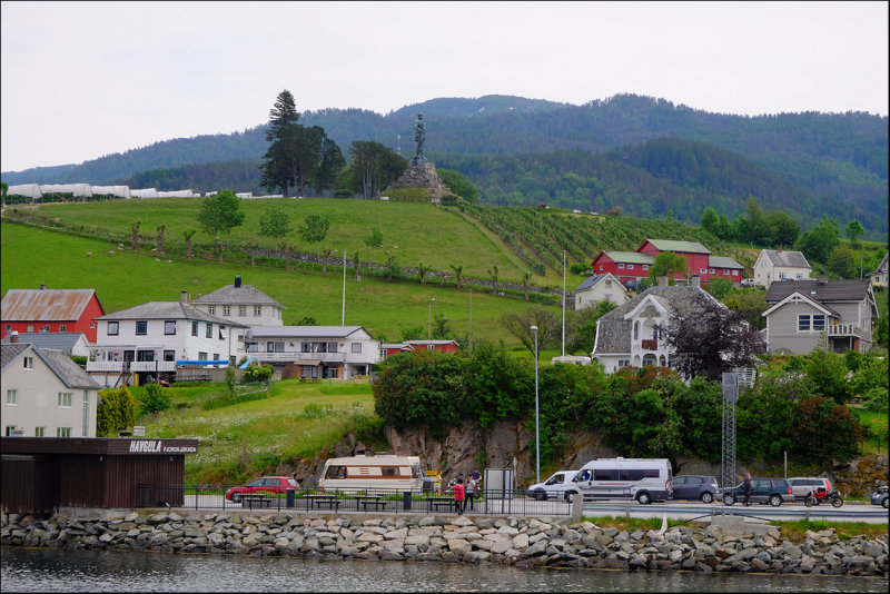 31. Vangsnes,Sogn with the statue of Fridthjof the Brave....