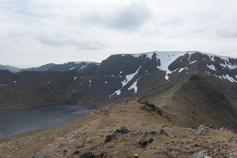 Swirral Edge and Helvellyn, from Catstycam