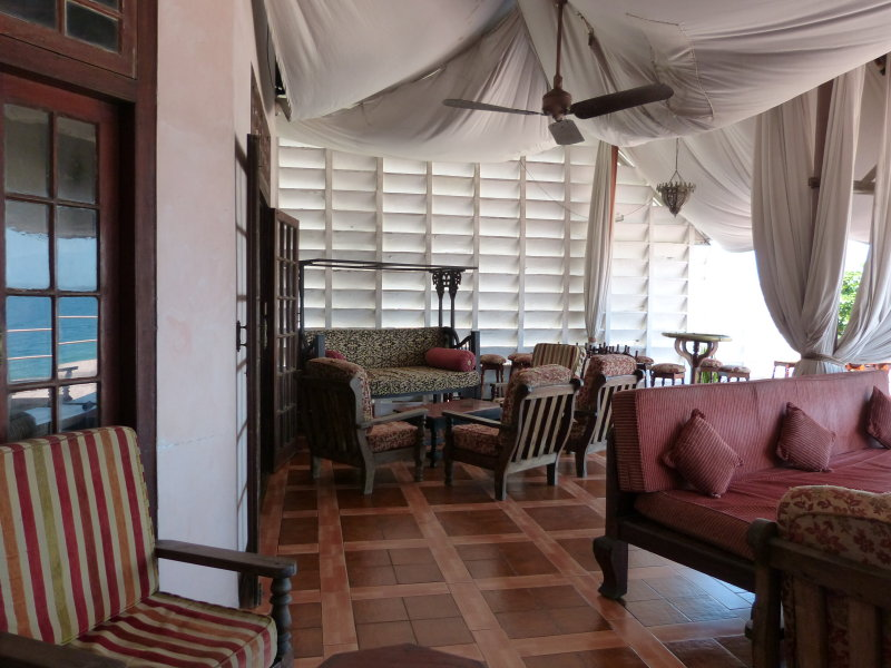 The Africa House - just down the street from the Serena - a lovely place to watch the ocean