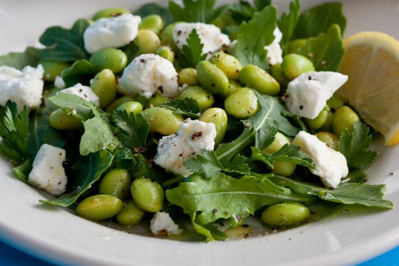 Soybean, Arugula and Feta Salad