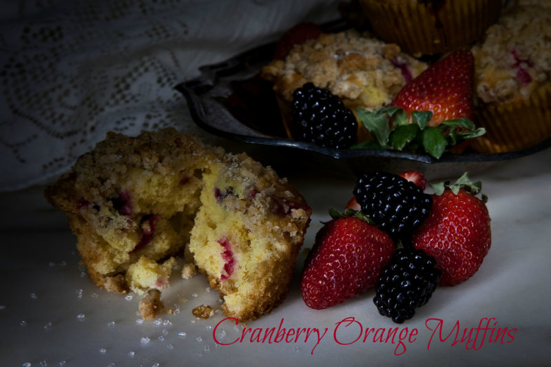 Cranberry Orange Muffins with Walnut Crumb Topping