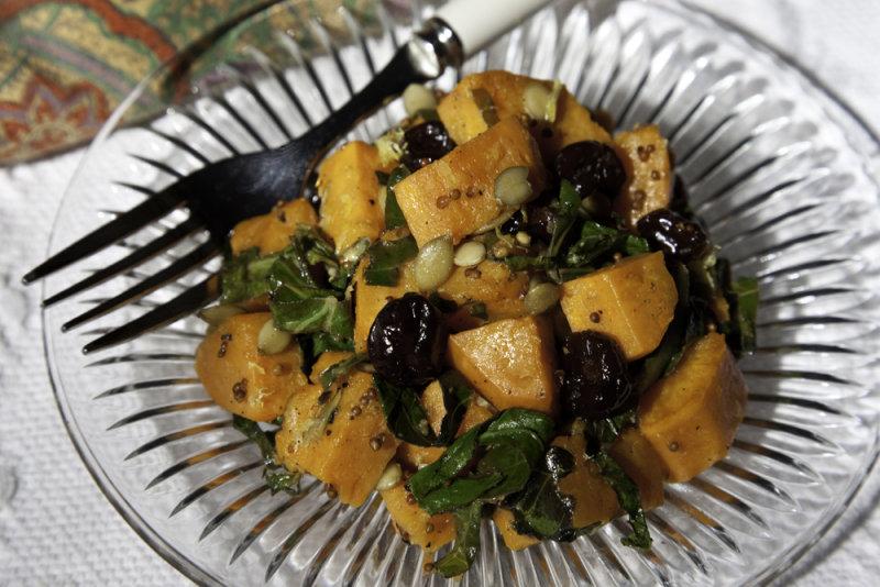 Sweet Potato and Collard Greens Salad